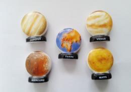 Fèves Planètes 5 Différentes - Santons/Fèves