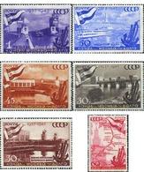 Ref. 356396 * MNH * - SOVIET UNION. 1947. PUESTA EN MARCHA DE LOS CANALES DE MOSCU - Barcos