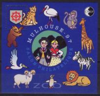 FRANCE 24 ** MNH Feuillet-souvenir CNEP : Salon De Mulhouse (Haut-Rhin) Alsace 1997 Zoo Cigogne Girafe Folklore [GR] - CNEP