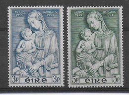 IRLANDE - YVERT N°122/123 * MLH CHARNIERE QUASI INVISIBLE - COTE = 10 EUR. - Unused Stamps