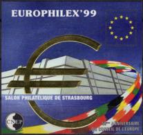 FRANCE 29 ** MNH Feuillet-souvenir CNEP : Europhilex'99 Salon Strasbourg Conseil Europe [GR] - CNEP