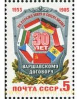 Ref. 357861 * MNH * - SOVIET UNION. 1985. WARSAW TREATY . PACTO DE VARSOVIA - Flaggen