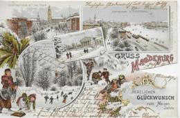 AK 0333  Magdeburg ( Neujahrswüsche ) - Lithographie Um 1896 - Magdeburg