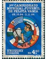 Ref. 69756 * MNH * - URUGUAY. 1985. 1 CAMPEONATO MUNDIAL JUVENIL DE PELOTA VASCA - Uruguay