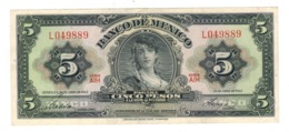 Mexico 5 Pesos 1963. XF. - Messico