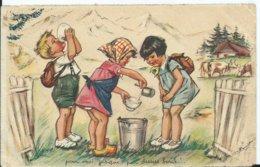 CARTE FANTAISIE - Illustration GERMAINE BOURET - Pour Moi Jusque Par Dessus Bord N° 2 Série 1938 - Bouret, Germaine