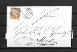 1862-1881 Sitzende Helvetia (gezähnt) → 1871 ZÜRICH Brief (Schw.Kreditanstalt) Via GLARUS Nach MATT - 1862-1881 Sitted Helvetia (perforates)