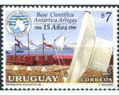 Ref. 67831 * MNH * - URUGUAY. 1999. 15 ANIVERSARIO DE LA BASE CIENTIFICA ANTARTICA ARTIGAS - Flaggen