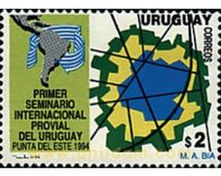 Ref. 42694 * MNH * - URUGUAY. 1994. 1 SEMINARIO INTERNACIONAL PROVIAL - Cars