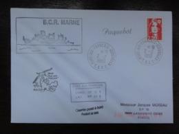 Marianne Briat 2614 - Oblitéré Port Aux Français 2/2/1990 -griffes Paquebot , Courrier Posté à Bordet BCR Marne - Terres Australes Et Antarctiques Françaises (TAAF)