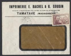Y/T N°202 Verso N° 162 X 10 Sur Enveloppe Entête Imprimerie De TAMATAVE ( Madagascar ) Du 19/6/1940 - Covers & Documents