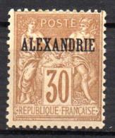 Col17  Colonie Alexandrie N° 12 Neuf X MH  Cote 20,00€ - Alexandrie (1899-1931)