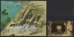 Egypt (2017) - Set + Block -  /   UNESCO World Heritage - Abu Simbel Temple Discovery - Ungebraucht