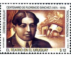 Ref. 255205 * MNH * - URUGUAY. 2010. THE THEATER . TEATRO - Uruguay