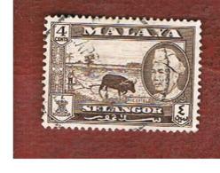 MALESIA: SELANGOR (MALAYSIA) - SG 118  -  1957 RICEFIELD        - USED ° - Selangor