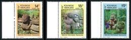 POLYNESIE 1984 - Yv. 209 210 211 ** Bdf   - Sculptures Sur Pierre : Tikis (3 Val.)  ..Réf.POL23912 - Polynésie Française
