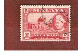 MALESIA: SELANGOR (MALAYSIA) - SG 119  -  1959  MOSQUE       - USED ° - Selangor