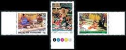 POLYNESIE 1986 - Yv. 263 264 265 ** Bdf   - Folklore (3 Val.)  ..Réf.POL23955 - Französisch-Polynesien