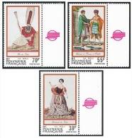 POLYNESIE 1985 - Yv. 238 à 240 ** TB Bdf Coul  Faciale= 1,37 EUR - Folklore ; Gravures Anciennes (3 Val.) ..Réf.POL21931 - Polynésie Française