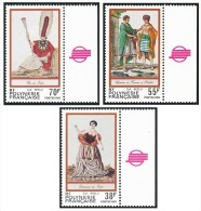 POLYNESIE 1985 - Yv. 238 à 240 ** TB Bdf Coul  Faciale= 1,37 EUR - Folklore ; Gravures Anciennes (3 Val.) ..Réf.POL21931 - Französisch-Polynesien