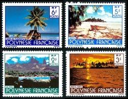 POLYNESIE 1986 - Yv. 252 253 254 255 ** SUP  Cote= 1,00 EUR - Paysages (sign. CARTOR) (4 Val.) ..Réf.POL22372 - Polynésie Française