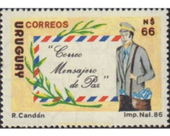Ref. 576659 * MNH * - URUGUAY. 1987. CORREO MENSAJERO DE LA PAZ - Altri