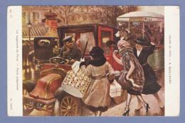 CPA PEINTURE A. GUILLAUME - LE JUGEMENT De PARIS - VIEILLE VOITURE TAXI TACOT BUS BASTILLE - SALON DE PARIS - Peintures & Tableaux