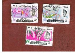 MALESIA: SELANGOR (MALAYSIA) - SG 139.141  -  1965  FLOWERS     - USED ° - Malesia (1964-...)