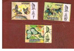MALESIA: SELANGOR (MALAYSIA) - SG 146.152  -  1971 BUTTERFLIES    - USED ° - Malesia (1964-...)