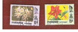 MALESIA: SELANGOR (MALAYSIA) - SG 161.162  -  1979  FLOWERS    - USED ° - Malesia (1964-...)