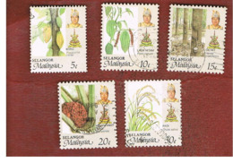 MALESIA: SELANGOR (MALAYSIA) - SG 178.182  -  1986 AGRICULTURAL PRODUCTS    - USED ° - Malesia (1964-...)