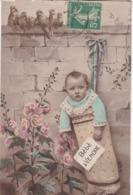 CARTE FANTAISIE. CPA . BEBE A VENDRE  . ANNEE 1914 + TEXTE - Bébés