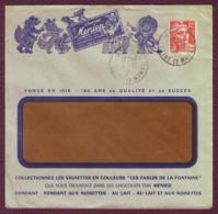 FRANCE - Lettre Entête CHOCOLAT MENIER - YT N° 885 Oblit. NOISIEL 2/12/195- - Francia
