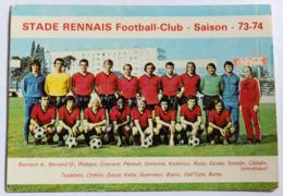 Rare Carte Postale équipe Du Stade Rennais Football Club Saison 73-74 René Cédolin Réginald Dortomb André Betta - Football