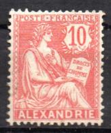Col17  Colonie Alexandrie N° 24  Neuf X MH  Cote 1,90€ - Neufs