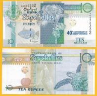 Seychelles 10 Rupees P-52 2016 Commemorative  UNC Banknote - Seychellen