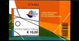 CYPRUS - 2012  EUROPEAN COUNCIL  MS  MINT NH - Chypre (République)