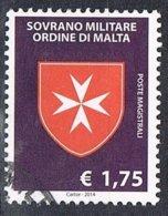 2014 - S.M.O.M. - CROCE OTTAGONA / CROSS OTTAGON - USATO / USED. - Sovrano Militare Ordine Di Malta