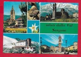 CARTOLINA VG ITALIA - Saluti Dalla Val Sangone - Vedutine Multivue - 10 X 15 - 1968 - Saluti Da.../ Gruss Aus...