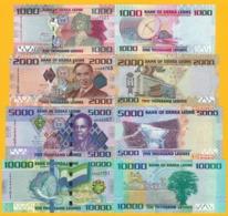 Sierra Leone Set 1000, 2000, 5000, 10000 Leones 2010-2015 UNC Banknotes - Sierra Leone