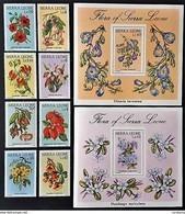 # Sierra Leone 1986**Mi.901-10 Flowers , MNH [22,48] - Vegetales