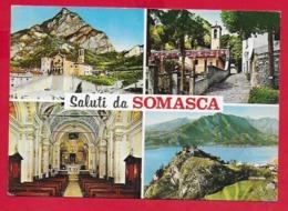 CARTOLINA VG ITALIA - Saluti Da Somasca - Santuario S. Girolamo Emiliani - Vedutine Multivue - 10 X 15 - 1972 VERCURAGO - Saluti Da.../ Gruss Aus...