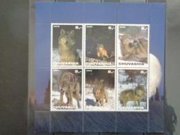 TCHOUVACHIE 2003 - BLOC 6 TIMBRES - LOUPS DIVERS - 1992-.... Föderation