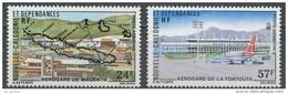 "Nle-Caledonie Aerien YT 179 & 180 (PA) "" Aérogares "" 1977 Neuf** - Luftpost"