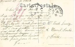 38-cachet Hôpital N°207 Bis De St Jean De Bournay Sur CP De 1916 - Guerre De 1914-18