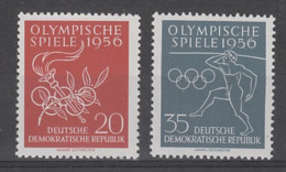 PAIRE NEUVE D'ALLEMAGNE ORIENTALE - JEUX OLYMPIQUES DE MELBOURNE N° Y&T 267/268 - Sommer 1956: Melbourne
