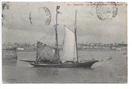 """Cpa...Granville.....la Goélette Latine... """" Tour D'Agon """"...1922...(peche A La Morue).... - Granville"""