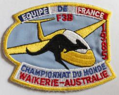 Rare écusson Tissu Brodé Championnats Du Monde F3B à Walkerie Australie équipe De France 1985 Avion Planeur - Ecussons Tissu