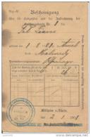 MALMEDY ..-- Bescheinigung . ZIANS , Geboren Zu AMEL , 1881 . - Malmedy