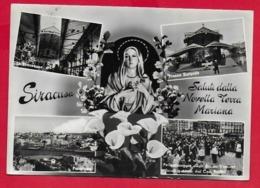 CARTOLINA VG ITALIA - SIRACUSA - Saluti Dalla Novella Terra Mariana - Vedutine Multivue - 10 X 15 - 1965 - Saluti Da.../ Gruss Aus...